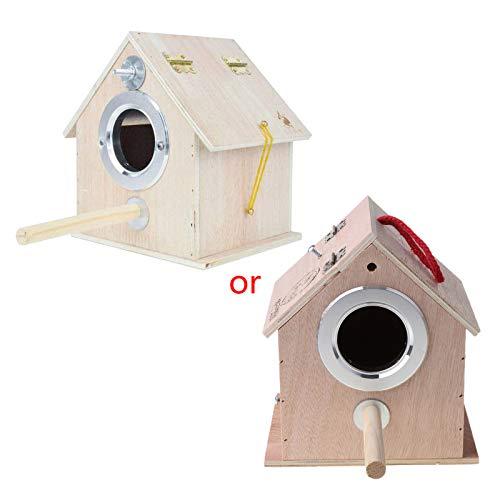 S-TROUBLE Nido de pájaro Pigeon House Caja de cría de Loros de Madera Hábitat de Refugio de jardín al Aire Libre