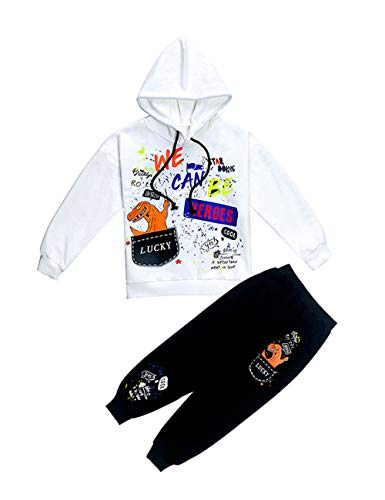 Jongens Unisex capuchon kinderen jogging hoodies sweatshirt trainingspak kleding outwear jumper hip hop streetwear hooded tops