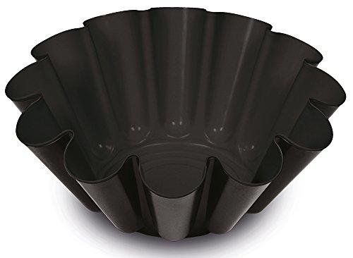 Guardini Gardenia, Stampo Budino 22cm, Acciaio con rivestimento antiaderente, Colore nero