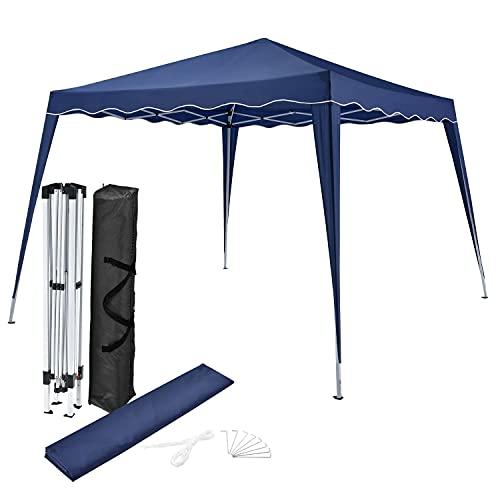 ArtLife Faltpavillon Vivara 3x3 m – Pop-up Pavillon höhenverstellbar, UV50+ & wasserabweisend – Gartenzelt mit Tasche – Partyzelt für Garten - Blau