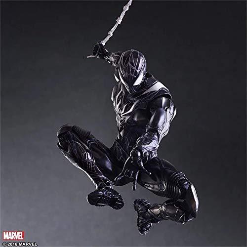 Amyove Play Arts 27cm Schwarz & Rot Original Spider Man Darkness Spiderman Avengers Superheld Actionfigur Modell Spielzeug Schwarzer Spiderman