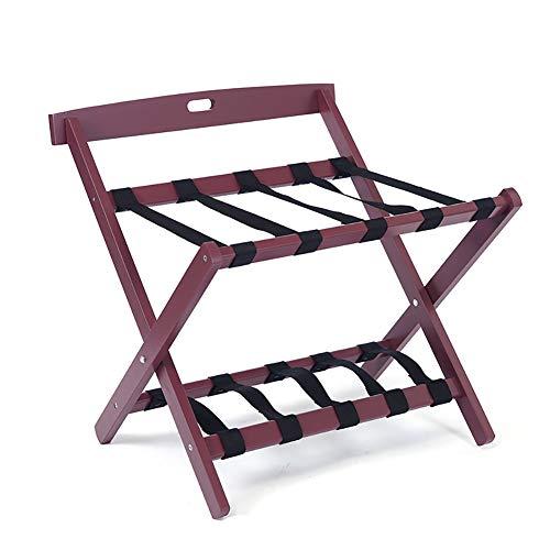 Sale!! JYXLJ Foldable Clothes Rack Suitcase Rack, Hotel Room Backrest Solid Wood Luggage Rack (60 ×...