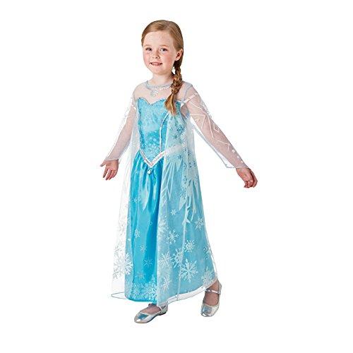 Rubie's-déguisement officiel - Disney- Deguisement Luxe Elsa Reine des Neiges- Taille 3-4 ans- I-630034S