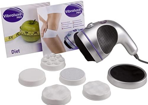 Best Direct Vibraluxe Pro Original Comme Vu à la Télé Masseur Amincissant Sculptant Circulaire, Anti-Cellulite 5 en 1 – Appareil de Massage Vibrant...