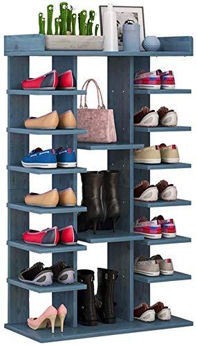 BRFDC Zapatero Zapatero de múltiples Capas de Madera sólida del Zapato Rack de Almacenamiento de Gran Capacidad multifunción estantes con cajón Ahorra Espacio Fácil de Montar (Color : A)