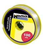 Wolfpack 16010350 - Nylon-Rolle, 100 m x 0.5 mm, transparent.