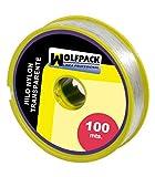 WOLFPACK LINEA PROFESIONAL 16010355 Hilo Nylon Transparente 0.7 mm. Rollo 100 m