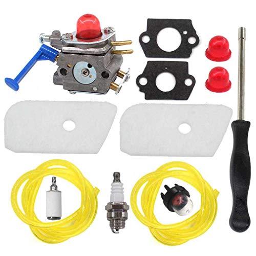 AISEN Carburateur avec filtre à air, clé spéciale pour Husqvarna 124L 125E 125C 125L 125LD 125R 125RJ 128C 128CD 128L 128LD 128LDX 128R 128RJ 128DJX String Trimmer C1Q-W40A