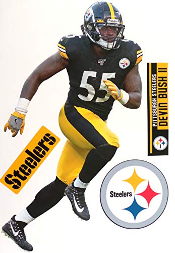 Devin Bush FATHEAD Pittsburgh Official NFL Vinyl Wall Graphic 17' INCH