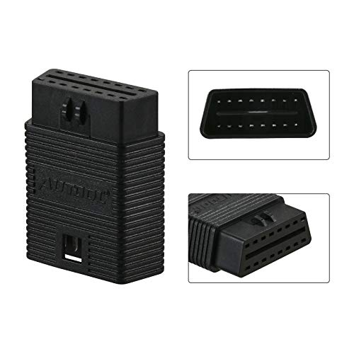 OBD2 OBDii Male to Female Diagnostic Extension Adapter OBD II Scanner Connector for Wireless Bluetooth OBD2 Scanner Code Reader Automotive ABS SRS Diagnostic Scan Tool