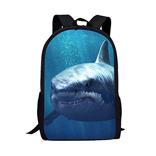 Kids Boys School backpack Shark for Kids Bookbags 17 inch