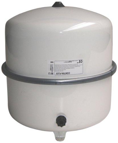 Flamco-Wemefa 26483 Membran-Druckausdehnungsgefäß Contra-Flex 50, 1.5 bar, nach DIN 4751-2, weiß