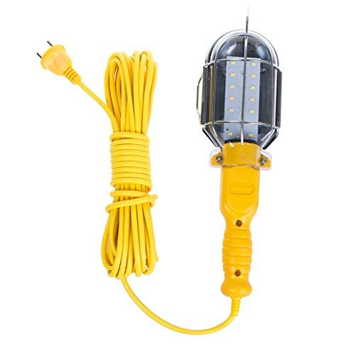 Lámpara amarilla 14LED 7W alta luminosidad mecánico 220V gancho Taller Garaje Luz trabajo construcción inspección