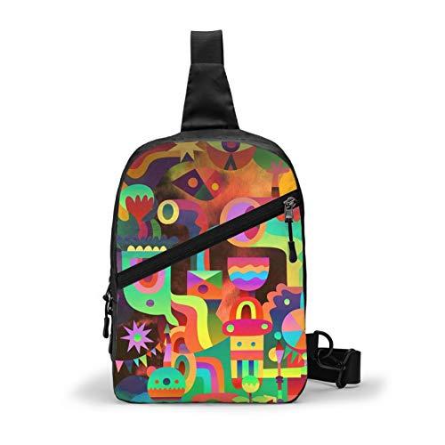 wenchongmaoyi Galaxy Tab 3D Print Chest Sling Bag Outdoor Hiking Backpack Waterproof Crossbody Daypack for Women Custom