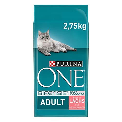 PURINA ONE BIFENSIS Adult Katzenfutter trocken, reich anLachs, 4er Pack (4 x 2,75kg)