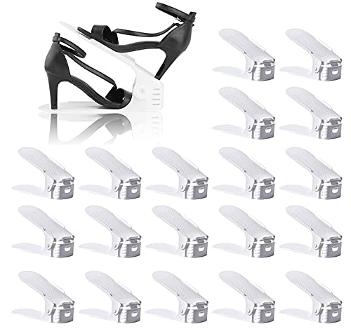 BIGLUFUSet de 20pcs Organizadores de Zapatos, Soporte de Calzado de Altura...
