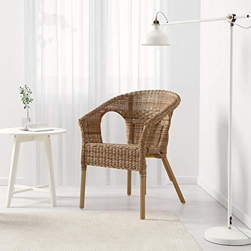 MSAMALL AGEN Silla, ratán, bambú, 58x56x79 cm durable y fácil de cuidar. Sillones de ratán, sillones y chaise longues. Sofás y sillones. Muebles respetuosos con el medio ambiente.