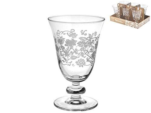 Pasabahce 846828 - Juego de 6 copas de vino de cristal para decoración de mesa