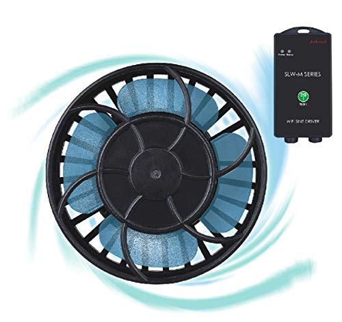 Brisunshine Aquarium Strömungspumpe Kabellos Wireless WiFi Wave Maker Wasserpumpe SLW-20M Umwälzpumpe Maximaler Pumpenfluss 10000 L/h Sinuswellenpumpe mit Kontroller DC 24V 20W