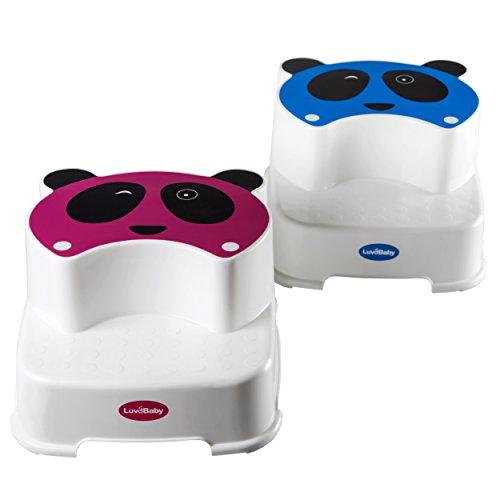 Baby Doppelstufen Schemel - Der Zwinkernde Panda - Kinder Tritthocker - Perfekt für Kinder-Badezimmer oder Kleinkind Toiletten Training