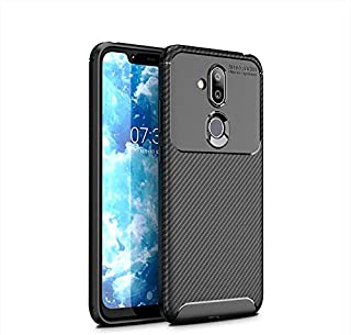 Nokia 8.1 Case TPU Full Cover Shockproof Protector,Black