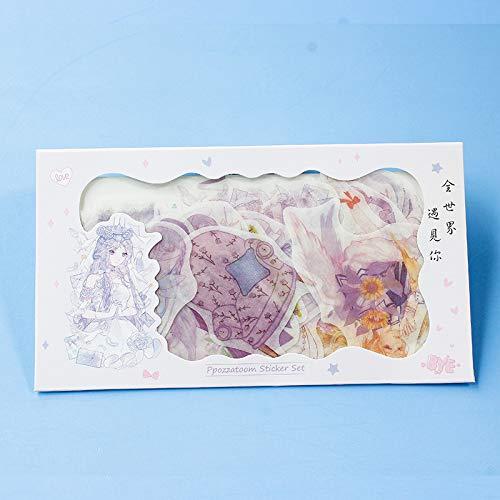 CMZ Creative Umschlag Aufkleber Hand Konto Aufkleber niedlichen Cartoon Mädchen lustige Versiegelung Aufkleber dekorative Aufkleber