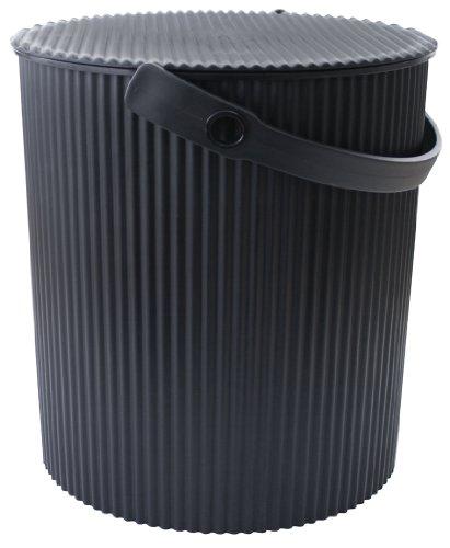 Hachiman Omnioutil Eimer LL - ✔ Lebensmitteltauglich (geprüft) ✔ Frei von Giftstoffen und Weichmachern ✔ Frostsicher bis -20 °C / Hitzebeständig bis 120 °C ✔ Stabile Sitzgelegenheit bis 150 kg (schwarz)