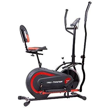 Body Power 3-in-1 Exercise Machine Trio Trainer Elliptical and Upright/Recumbent Bike BRT5118