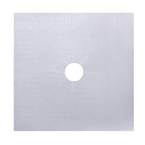 Vtops Ofen-Schutzmatte, leicht zu reinigen, 1 / 2 / 4 Stück, silber, 2 PCS