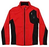 Spyder Boy's Youth Raider Full Zip Sweater Racing Red L