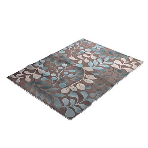 MICHAELA BLAKE Estilo Moderno Alfombra, Salón de alfombras contemporáneas patrón en Forma de Hojas de Terciopelo Diseño de Interiores y Exteriores Dormitorio Alfombras Runner