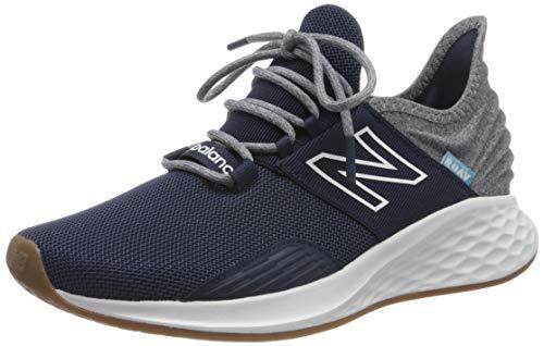 New Balance Men's Fresh Foam Roav V1 Running Shoe Sneaker, Natural Indigo/Light Aluminum, 17 W US