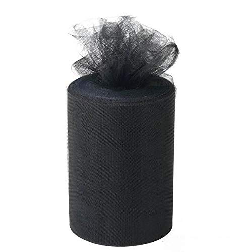 BalsaCircle 6-Inch x 300 feet Silver Net Tulle Fabric Ribbon the Roll - Wedding Party Favors Decorations DIY Crafts Sewing Supply