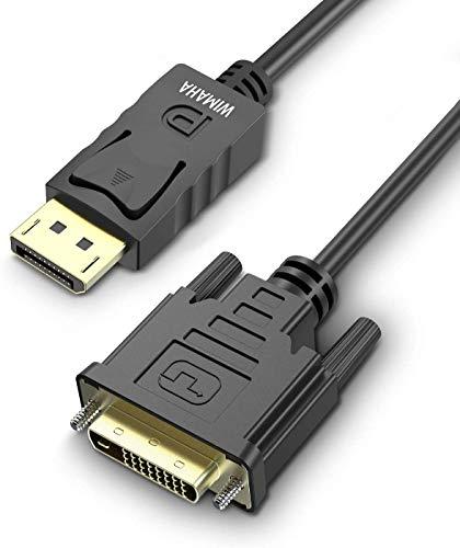 Cable DisplayPort a DVI (DP a DVI ), 1080P, 1,8m,DP Macho a DVI Hembra para Pantallas, Monitores, Proyectores(DVI)