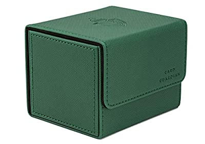 Card Guardian - Premium Green Deck Box for 100+ Cards for Trading Card Games TCG