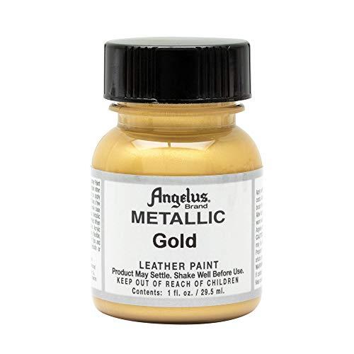 Angelus Acrylic Leather Paint - 1 Ounce, Gold