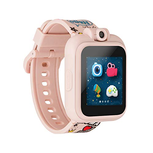 PlayZoom Kids Digital Smartwatch with Selfie Camera, Video Recorder, and Interactive Educational Games, Birthday Gift for Boys and Girls (Pink Graffiti)