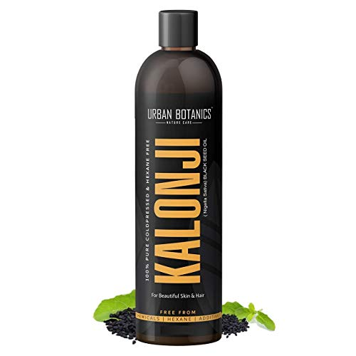 UrbanBotanics® Premium Cold Pressed Kalonji Oil – Virgin Grade – Black Seed Oil – Nigella Sativa – 200ml