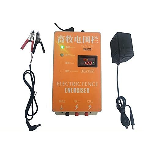 Controlador de cerca eléctrico de 10km / 6.2mile, cargador de energizante Farm...