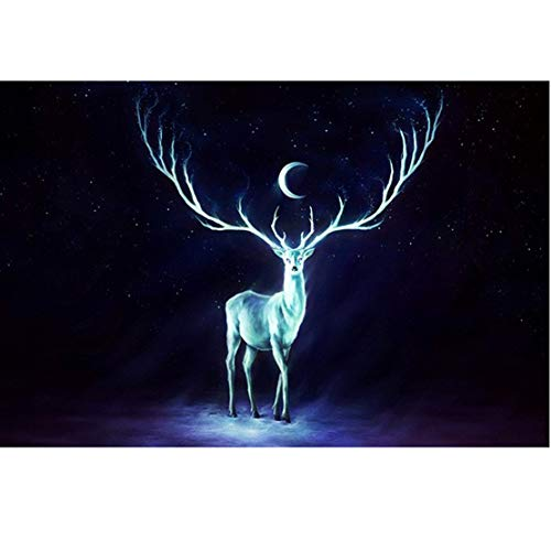 BOXSBAI Jigsaw Puzzle Moonlight Deer 300/500/1000/1500/2000/3000/5000/5700 Piezas for Niños Niña de Adultos, cumpleaños, Juguete de la descompresión, Misión Imposible Descompresió