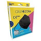 Mascarillas FFP2 homologadas CE 2834, color negro, filtrado de 5 capas - GrupoZona - Mascarilla protección negra - Envío rápido desde España