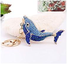 Sleutelhanger Diamanten Schattige Dolfijn Hanger Metalen Cartoon Hanger Klein Cadeautje blauw