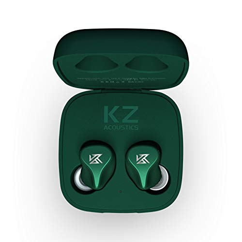 KZ Z1 TWS True Wireless Earphones Dynamic Earbuds Touch Control Noise Cancelling in Ear Earphone (Green)