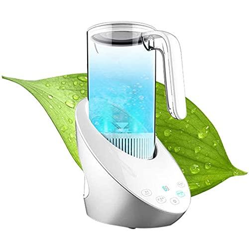 Fhdisfnsk Ionizzatore d'Acqua Ricca di Idrogeno da 1600 ML - Purificatore per Filtro dell'Acqua Ricaricabile USB Mantiene Il Corpo Idratato - Antiossidante Anti Invecchiamento Crea Idrogeno - Bianco