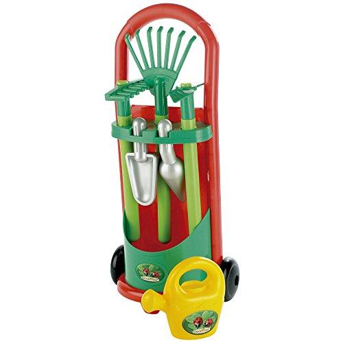 Ecoiffier Kinder-Gärtner-Trolley, Gerätewagen mit Garten-Zubehör