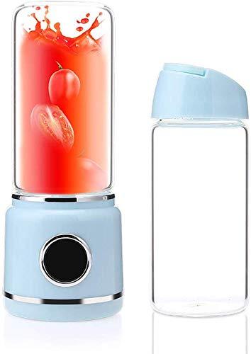 AFDK Licuadora Smoothie, licuadora personal recargable portátil de 200 vatios USB con 6 cuchillas Led Led Display Mini licuadora de viaje para Home Drive Sports - Sin Bpa,azul