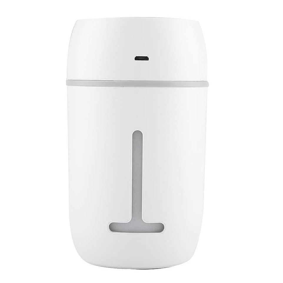 マート動員する追加ミニUSB加湿器、超音波クールミスト加湿器充電式ポータブルカーオフィス加湿器ディフューザー7色LEDライト