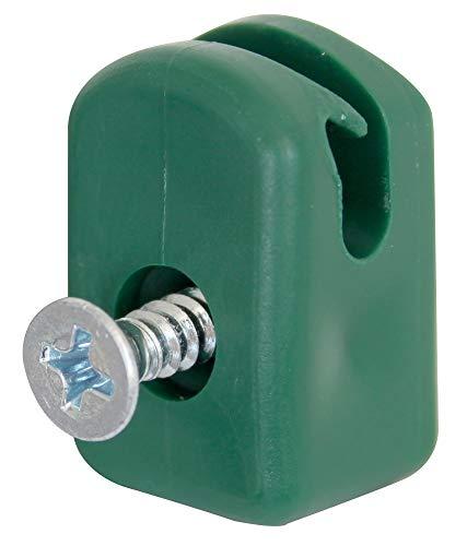 Kunststoff Spanndrahthalter mit Schraube 10St.