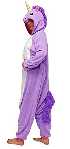 Anebalrui Damen Herren Jumpsuit Overall Fasching Tier Einhorn Kostüm fasching Anime Cosplay Halloween Karneval Kostüm Schlafanzug Pyjama Erwachsene (L für 166cm-175cm/65.0