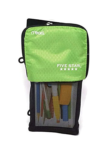 Mead Stand N Store Pencil Pouch, New Honey Comb Design (Green)